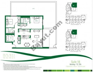 Suite 18 Ground Level 2 Bedroom Building T2, T2A