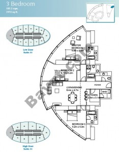 3 Bedroom Suite 1 Low Zone