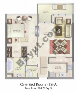 1 Bed Type A Floor(1st-3rd)