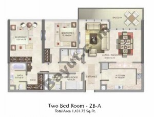 2 Bed Type A Floor(1st-3rd)
