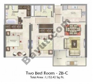 2 Bed Type C Floor(1st-3rd)