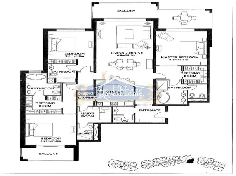 10 Rare Type C | 3 Bedroom + M | Balqis Residence