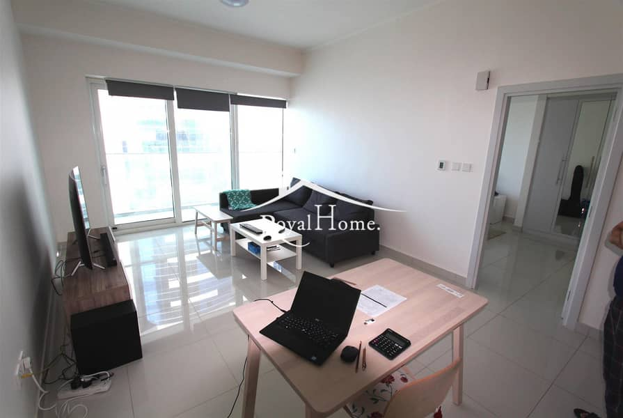 AC free | Furnished 1BR | Palm View | High Floor