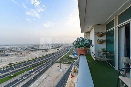 2 Bedroom Flat for Rent in Business Bay, Dubai - High Floor | Fully Furnished | Balcony