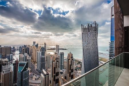بنتهاوس 4 غرف نوم للبيع في دبي مارينا، دبي - Astonishing 4BR Penthouse| Full Marina| Top Floor