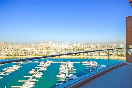 فلیٹ 2 غرفة نوم للبيع في نخلة جميرا، دبي - Vacant || Top Floor || Breathtaking Views