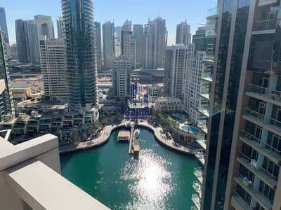 2 Bedroom Apartment for Rent in Dubai Marina, Dubai - Deal/Stunning 2BR plus Study/ Full Marina and Partial Sea View