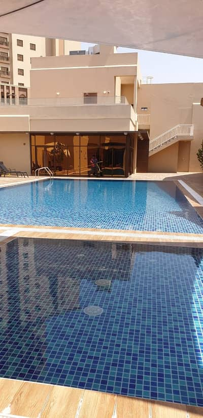 1 Bedroom Apartment for Rent in Mohammed Bin Zayed City, Abu Dhabi - 1 Bedroom Hall with pool and gym at Musaffah Garden