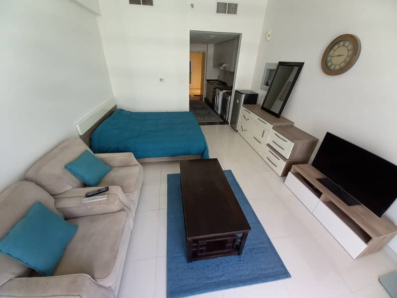 Fully furnished studio ready in Golf Horizon Damac Hills