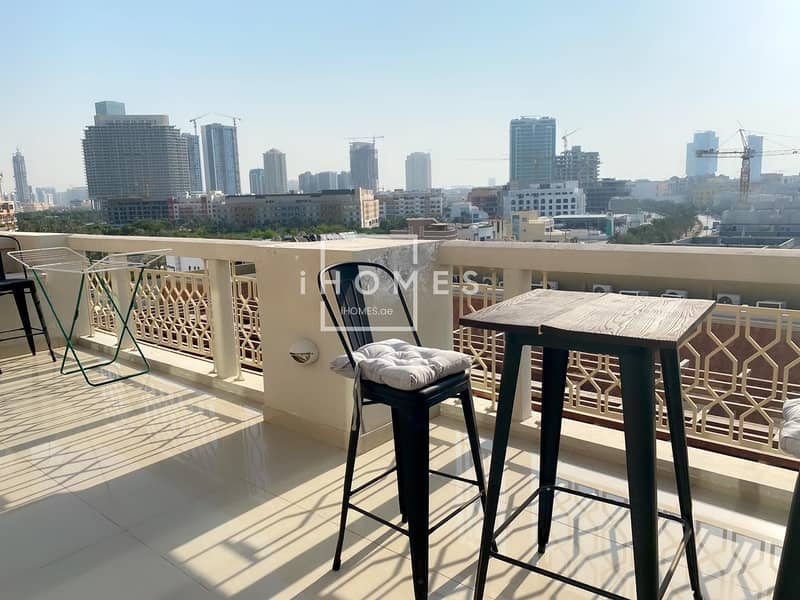 2 Stunning 1BR Fully Furnished   Massive Terrace   Pool View   JVC