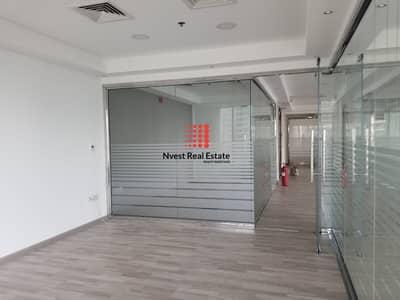 مکتب  للايجار في الخليج التجاري، دبي - Upgrade Wooden floor  Fitted Office   105K   Al-mas View.