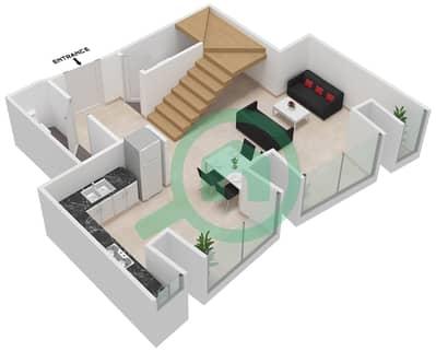 Cayan Tower - 1 Bedroom Apartment Type/unit 3/3 Floor plan