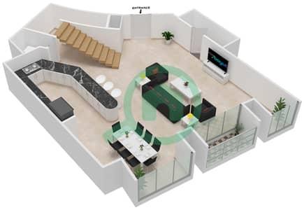 Cayan Tower - 2 Bedroom Apartment Type/unit 3/9 Floor plan