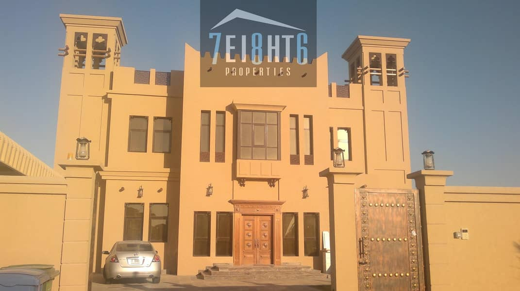 Outstanding property: 6 b/r good quality indep villa + maids room + large garden for rent in Mizhar 2