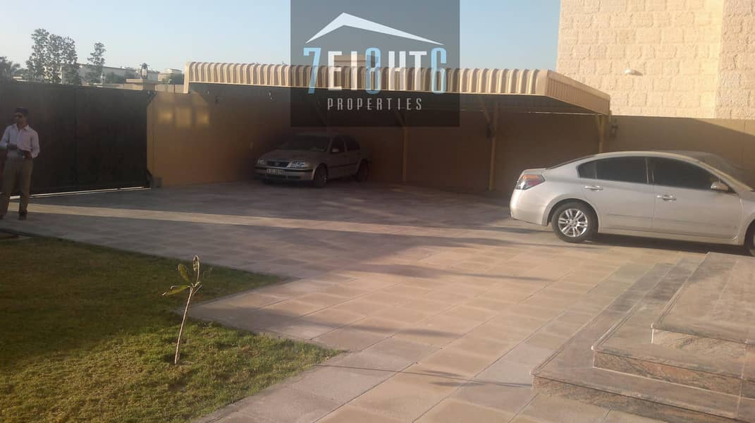 7 Outstanding property: 6 b/r good quality indep villa + maids room + large garden for rent in Mizhar 2