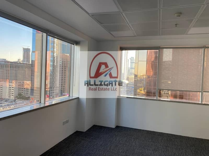 Dewa And AC Include fitted with partitions office for rent in SZR