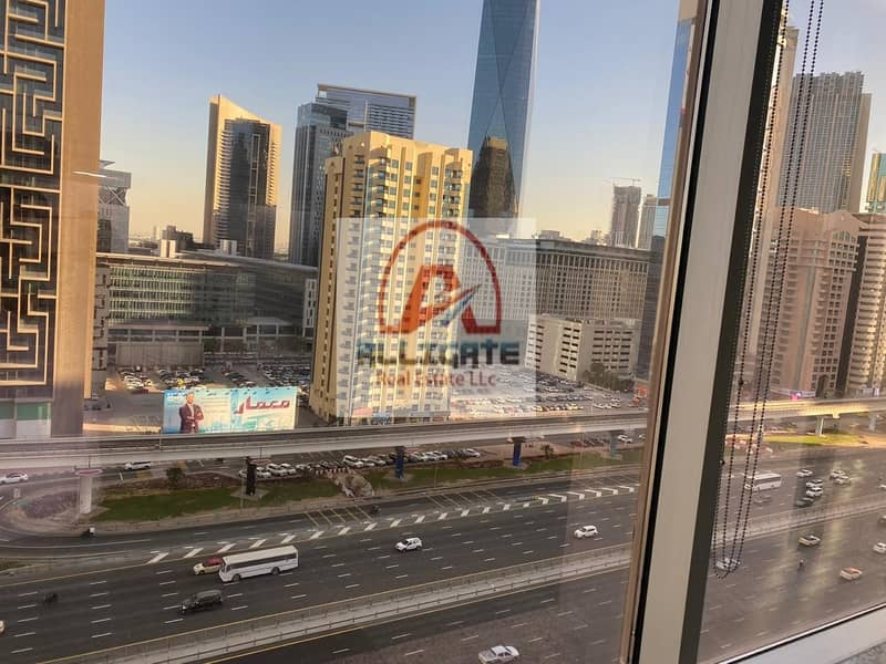 2 Dewa And AC Include fitted with partitions office for rent in SZR