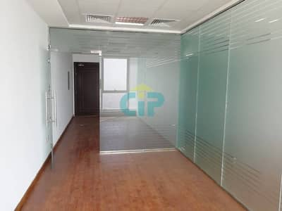 Spacious Fitted office - 890 Sq.Ft - Wooden Floor - Higher Floor - Churchill Tower - Business Bay