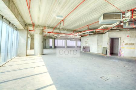 Floor for Rent in Jumeirah Lake Towers (JLT), Dubai - Shell and Core | High Floor | 14 Parking Bays