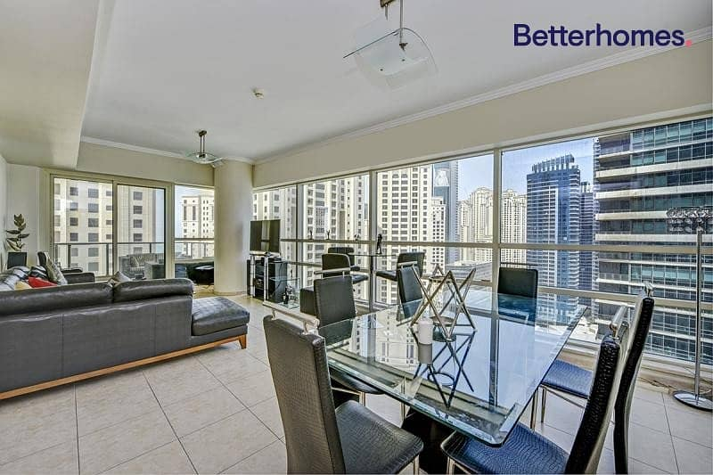 Fully Furnished | Partial Marina View | High Floor