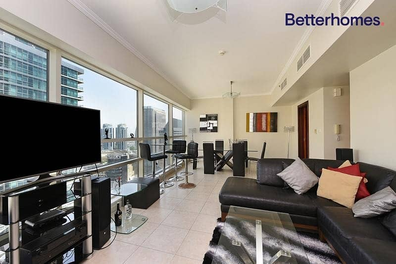 2 Fully Furnished | Partial Marina View | High Floor