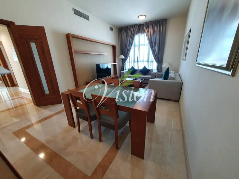 Amazing Fully Furnished 2BHK with maids room and parking