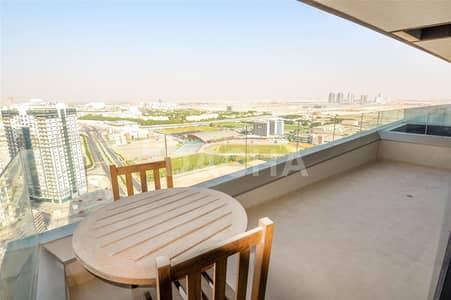 فلیٹ 1 غرفة نوم للايجار في مدينة دبي الرياضية، دبي - Best Bldg - The Matrix / High floor / Canal view