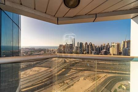 استوديو  للايجار في أبراج بحيرات الجميرا، دبي - Beautiful Sea View  | High Floor | With Balcony