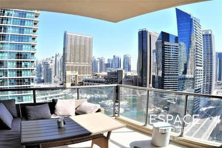 شقة 3 غرف نوم للايجار في دبي مارينا، دبي - Full Marina View - EMAAR- Large Balcony