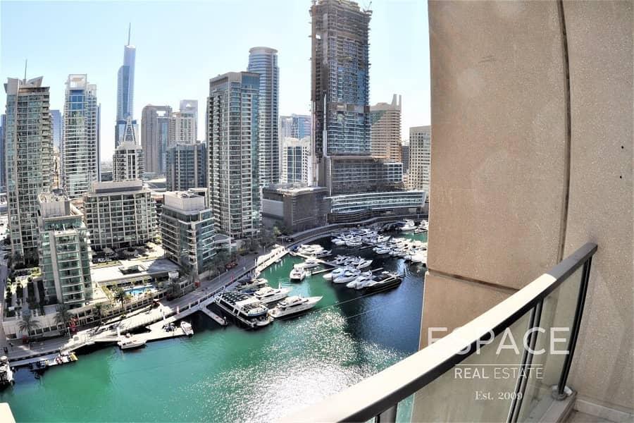 2 Full Marina View - EMAAR- Large Balcony