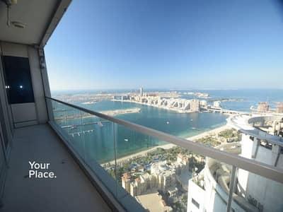 شقة 1 غرفة نوم للايجار في دبي مارينا، دبي - Exclusive - Sea & Palm High Floor