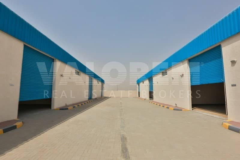 Large Brand New warehouse for rent in Al-Sajah Ind. Area