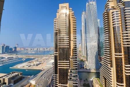 Studio for Rent in Dubai Marina, Dubai - MARINA & PALM VIEW | BALCONY | FULLY EQIPPED KITCHEN | PARKING