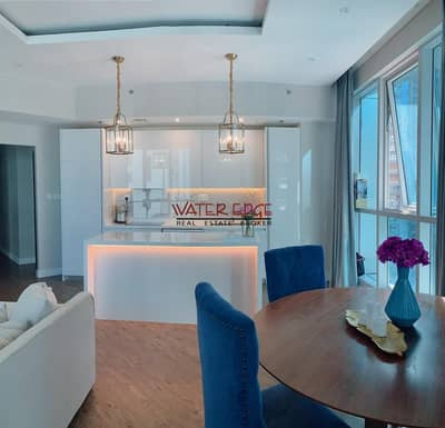 2 Bedroom Flat for Rent in Dubai Marina, Dubai - Sea View | Partial marina View | Fully Furnished
