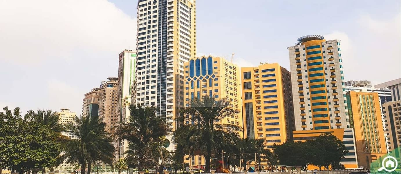 4 A group of five apartments for investment in Sahara Towers