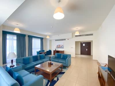 3 Bedroom Hotel Apartment for Rent in Jumeirah Beach Residence (JBR), Dubai - Long Term Lease   Furnished   Inclusive of Utility Bills