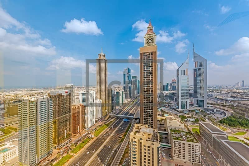 10 Sheikh Zayed Road|DEWA and Chiller|Close to Metro