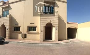 Beautifully presented: 3 b/r good quality semi-independent villa + maids room + large garden for rent in Rashidiya
