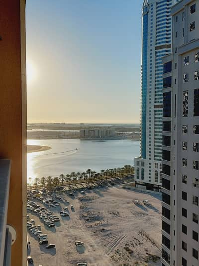 3 Bedroom Flat for Rent in Al Khan, Sharjah - 1 Month Free 3 Bedroom Apartment With Maidsroom Balcony Open View Free Parking Just In 40,000/-