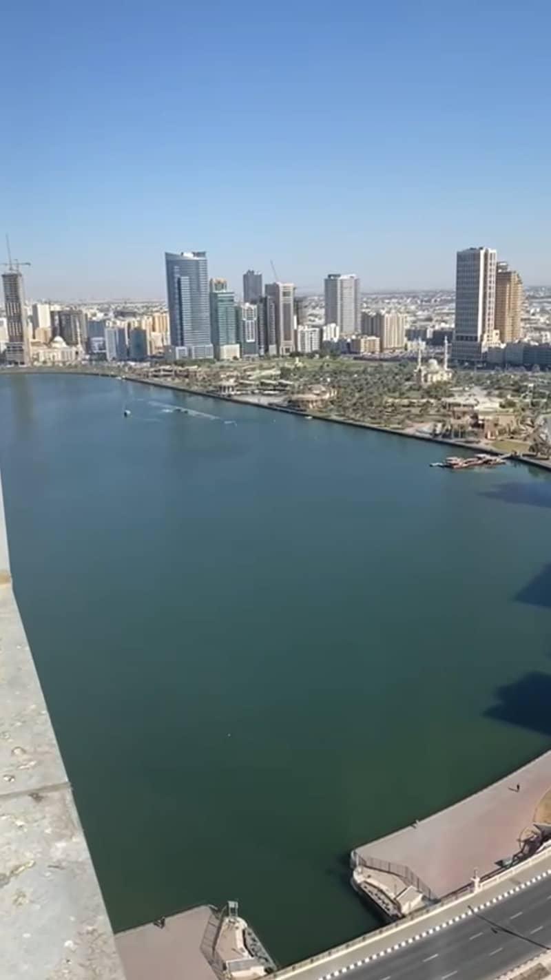 For rent an apartment in Al Qasba with views of Al Qasba and Khaled Lake