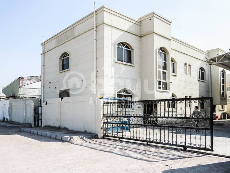 COMMERCIAL BUILDING COMPLEX WITH WAREHOUSE AREA FOR RENT IN  MUSSAFFAH INDUSTRIAL AREA! - IDEAL FOR  CORPORATE OFFICE!