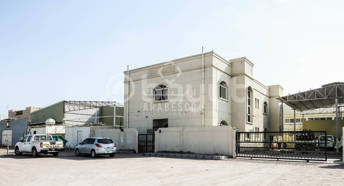 2 COMMERCIAL BUILDING COMPLEX WITH WAREHOUSE AREA FOR RENT IN  MUSSAFFAH INDUSTRIAL AREA! - IDEAL FOR  CORPORATE OFFICE!