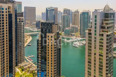 2 Bedroom Flat for Sale in Jumeirah Beach Residence (JBR), Dubai - Marina and Sea views / Rented 95k / Sold Furnished