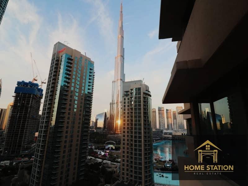 Stunning  Burj Khalifa View / Spacious Balcony/ High Floor/