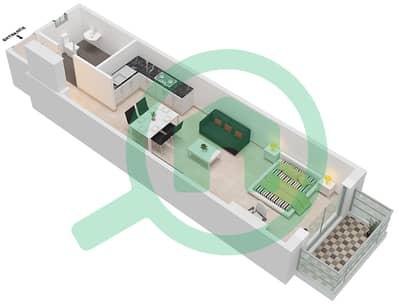 Botanica - Studio Apartments type 1 Floor plan