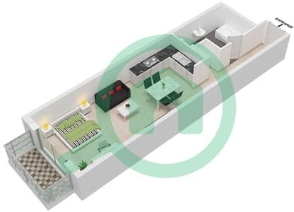 Botanica - Studio Apartments type 2 Floor plan