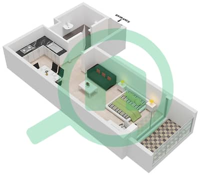 Botanica - Studio Apartments type 3 Floor plan