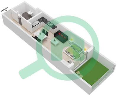 Botanica - Studio Apartments type 4 Floor plan