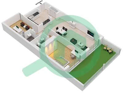 Botanica - 1 Bed Apartments type 1 Floor plan