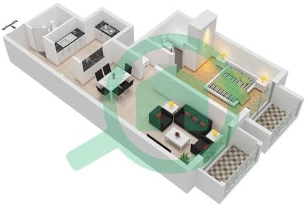 Botanica - 1 Bed Apartments type 3 Floor plan